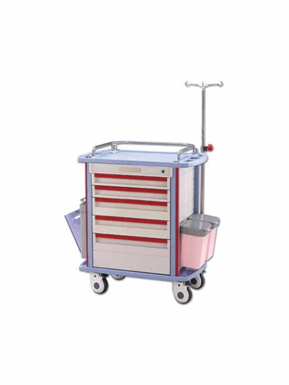 Stocked Adult Moderate Conscious IV Sedation Cart